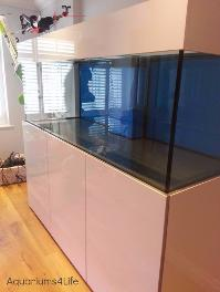 high gloss aquarium cabinet Aquaruims4Life Marine Coral tank