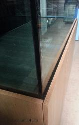 Oak laminate Aquarium manufacturers Aquariums4Life textured Oak aquarium cabinet black silicone 72