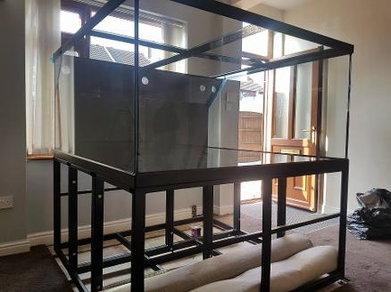 Steel aquarium top and base. custom tank design 60