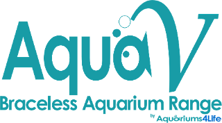 braceless rilmless aquariums logo AquaV like EA but with Steel Framed Cabinet built inthe UK