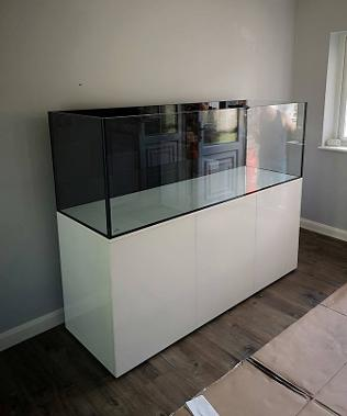 Braceless Aquarium Rimless Marine Tank 1800mm x 600mm x 600mm AquaV design with Steel Framed Cabinet stronger than any EA or Red Sea build