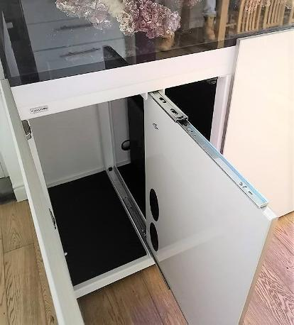 Aquariums4Life electrical panel metal frame white gloss. sliding for ease of access